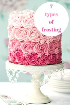 If you love baking cakes or cupcakes, this post will help to understand the 7 different frosting types out there!