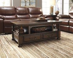 Shop Brosana Traditional Classics Brown Coffee Table Sets with great price, The Classy Home Furniture has the best selection of to choose from Lift Top Coffee Table, Cool Coffee Tables, Coffee Table Books, Chair Side Table, End Tables, Top Cocktails, Cocktail Tables, Home Furniture, Family Room