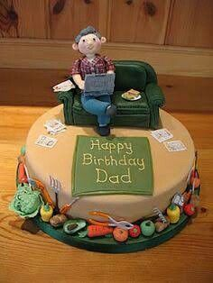 fishing cake for father in laws birthday BakingDesserts