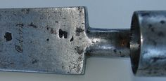 Bayonet from Brown Bess musket, detail showing makers name, Osborn by Waterloo200, via Flickr