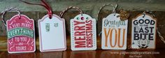 Simple Saturday: Tag you're it! Merry Everything Stamp set and Note Tag punch from Stampin' Up! by papermadeprettier (Kay Cogbill) Available to order August 28th or NOW with a starter kit! No obligations, just fun! Instructions on my blog!