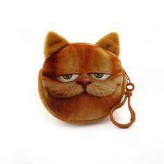 2016 nuovi accessori del sacchetto borse della moneta del raccoglitore delle signore di stampa 3D gatti cani animali grande affrontare il cambiamento di modo carino piccola cerniera borsa