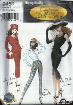 Simplicity Doll Patterns 9317 9450 and 9527