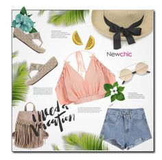 """""""Island Getaway (NewChic)"""" by selena-gomezlover ❤ liked on Polyvore featuring Stop Staring!"""