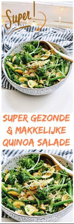 Gezond recept   Lekker eten met deze makkelijke en gezonde quinoa salade   Eet gezond met recepten van Healthy Wanderlust   Slade met quinoa