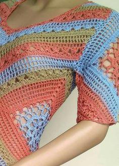 Crochet Beach Dress, Crochet Lace, Crochet Bikini, Crochet Tops, Granny Squares, Crochet Fashion, Beautiful Crochet, Crochet Clothes, Blanket