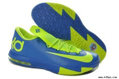 Basketball Shoes Womens Nike Zoom KD 6 Sprite Royal Blue Volt 599424-400