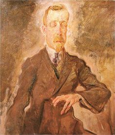 Paintings/Mental Illnesses ~ Portrait of German writer Heinrich Mann by Max Oppenheimer, circa 1910 (Wellcome Collection via Wikimedia Commons) Max Oppenheimer, Feeling Faint, Wellcome Collection, Portrait Images, Portraits, Indian Paintings, People Art, Contemporary Art, Writer