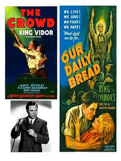 King Vidor: The Big Parade (1925), The Crowd (1928), Our Daily Bread (1934) FREE ship