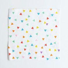 Servilletas de papel con triangulitos de colores - 20 ud