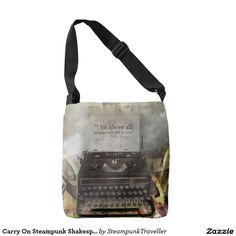 Carry On Steampunk Shakespeare Quote Bag