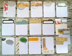 Handmade Project Life Journaling Cards by Michelle Wooderson