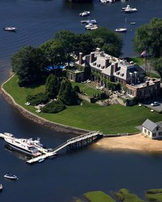 ....because every mansion should have it's own island.