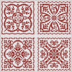 Free Patterns - Square, Round, etc. Great for biscornu