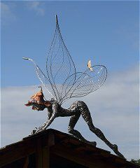 wire fairy #sculpture for your #garden by Fantasy Fairy UK http://www.mervedinger.com