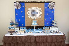 Boy's Sesame Street Cookie Monster Birthday Party Dessert Table Ideas