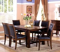 """66"""" Tobacco Oak Marble Tiles Dining Table Set #casualdining"""