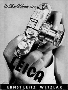THE leica iii - Adverisment, 1955... 1 pc die-cast body •Improved internal mechanism •Large release button •Exposure counter