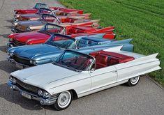 1956, 57, 58, 59, 60 and 61 Cadillac Eldorado Biarritz...what's the plural of Biarritz??...Biarritzi?