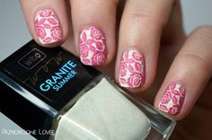 Granite summer with roses