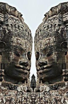 Angkor Wat, Giant Faces at Bayon Temple, Cambodia