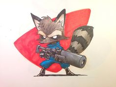 Sorry, but I had to do another Rocket Raccoon.