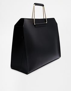 Enlarge ASOS Leather Bag with Metal Handles