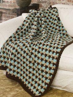 Yarnspirations.com - Caron Country Tweed Afghan  - Patterns  | Yarnspirations