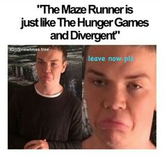 I honestly don't understand y everyone gets so annoyed when people compared divergent hunger games and maze runner..I have read all 3 series and I don't understand what the big deal is
