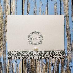 Convite de Casamento com Arabescos Preto