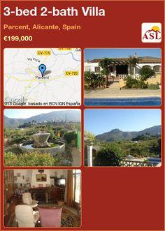 3-bed 2-bath Villa in Parcent, Alicante, Spain ►€199,000 #PropertyForSaleInSpain