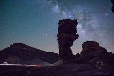 Roque Cinchado  #outdoors #hiking #senderismo #picoftheday #Teide #landscape #sky #night #cielo #star #estrellas #nocturnas #tenerifesenderos #paisajes #fotostenerife #milkyway #IslasCanarias #Tenerife