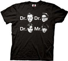 The Big Bang Theory Dr. & Mr. Faces T-shirt