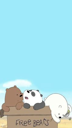 Cute Disney Wallpaper, Kawaii Wallpaper, Cute Cartoon Wallpapers, Wallpaper Iphone Cute, Cartoon Pics, Galaxy Wallpaper, Ice Bear We Bare Bears, We Bear, We Bare Bears Wallpapers