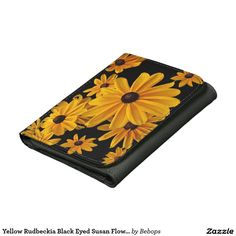 Yellow Rudbeckia #BlackEyedSusan Flowers Wallet @bebopsplace