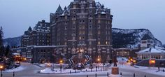 Fresh snowfall at the Fairmont Banff Springs. I want to stay here so that I can pretend that I'm at Hogwarts