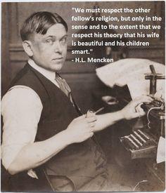 H.L. Mencken on Religion