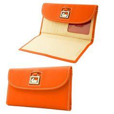 Dooney  Bourke Dillen 2 Leather Continental Clutch Tangerine - List price: $135.00 Price: $94.00
