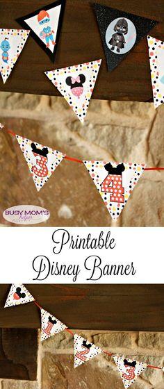 Printable Disney Banner / by BusyMomsHelper.com / Disney Countdown