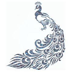 孔雀, グラフィック デザイン, 鳥, デザイン, 羽, 青, シルエット, テクスチャ, レトロ