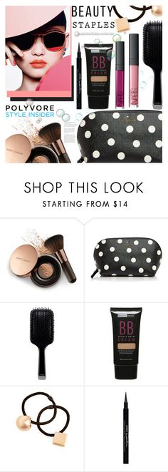 """MakeUp Bag Staples"" by mycherryblossom ❤ liked on Polyvore featuring beauty, Nude by Nature, Kate Spade, GHD, Beauty Treats, Tasha and Givenchy"