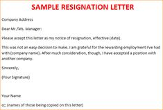 26 Best Resignation Letter images in 2019 | Letter templates ...