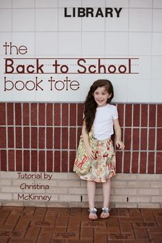 Tutorial | Back To School Book Tote | by Christina McKinney