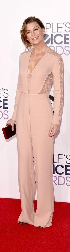 Ellen Pompeo in an Elie Saab jumpsuit at the People's Choice Awards.