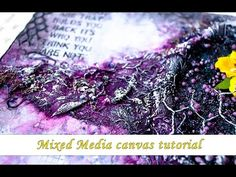 It's a step by step tutorial for spring themed card with a lot of mixed media techniques. Created for Mixed Media Place store DT. This tutorial with voice ov. Mixed Media Cards, Mixed Media Journal, Mixed Media Techniques, Mixed Media Tutorials, Altered Tins, Mixed Media Painting, Videos, Bible Journal, Canvas