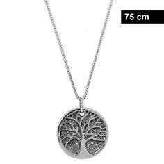 Edelstahl Kette für Damen mit Anhänger Lebensbaum Piercing, Diamond, Silver, Jewelry, Tree Of Life, Fashion Jewelry, Stainless Steel, Jewlery, Jewerly