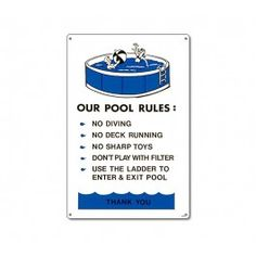 1000 Images About Pool Signs On Pinterest Safety Pools And Pool Accessories