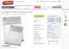 Dawanda Fundstücke – analoge E-Mail #notebook #diary #stationery #notizbuch #tagebuch #papier #notizbuchblog