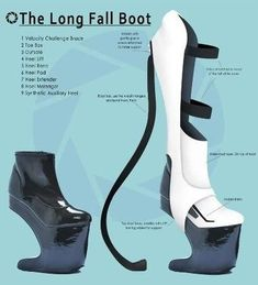 Portal 2 boot- though maybe not quite so high. I don't have the balance Gamer's Guide, Aperture Science, Portal 2, Portal Memes, Cyberpunk Fashion, Cosplay Tutorial, Cosplay Costumes, Cosplay Ideas, Costume Ideas
