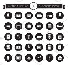 Furniture Icons Set Vector By Factory On Creativemarket